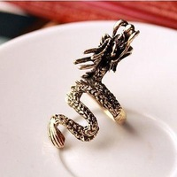Min.order is $10 (mix order) 22A56  Fashion personality vintage exaggeration dragon ring wholesale free shipping