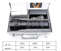 Ultra Bright 24W 2200 Lumens Rechargeable HID Flashlight Lamp Xenon Torch Waterproof Black