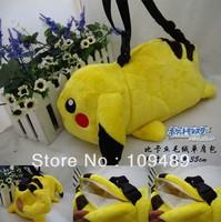 "Free Shipping EMS 20/Lot Pokemon Pikachu Plush Doll Bag -Plush Shoulder Bag 18"" Wholesale"