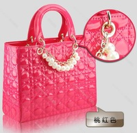 Free Shipping 100% Quality Guaranteed Luxury Pearly Patent Leather Women Handbags+Tote Bag Best Selling  Black Friday&Super Deal