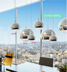 ball sphere glass lighting single pendant lamp diameter 15cm glass shade energy saving lamp mirror glass(China (Mainland))