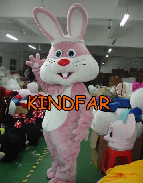 Big head bunny mascot costume adult size fancy dress cartoon character