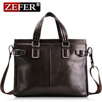 Luxurious men's casual messenger handbag / New men's commercial briefcase / Free shipping