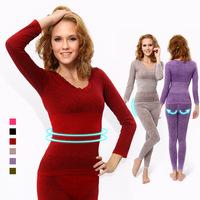 Free shipping! Model Thin section Women body Shape Underwear Seamless thermal underwear set ,suit underwear