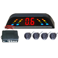 2014 New 4 Sensors Car Parking Reverse Radar Detector Kit with the wireless LED digital Display Indicator For All Car Brands