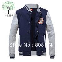 Couple cardigan autumn and winter baseball uniform baseball sweater men's casual jacket men's sweater
