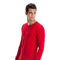 Male Tshirt 100% cotton long johns men's long johns men's clothing cotton sweater red basic thermal underwear set