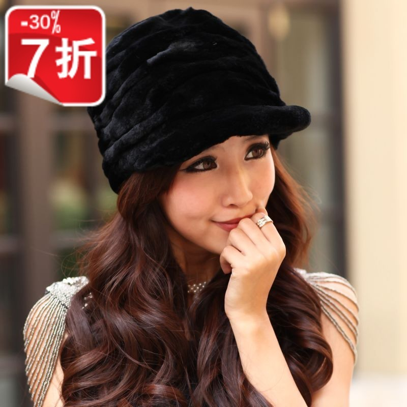 Amberrel hat chara cteristics of female money rabbit hair new winter fur hat female CA - 07(China (Mainland))