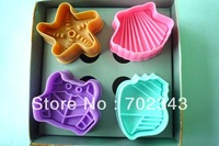 New 3D Cookie Cutters Stamp Starfish&amp;Shell Shape Cookie Decoration Biscuit Mold