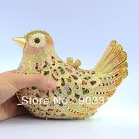 2013 Luxury fashion party Bird Pigeon Mandarin Duck Clutch bag evening Crystals