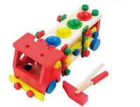 The children's intelligence wooden toy dismantling screw car assembly assembly blocks free shipping
