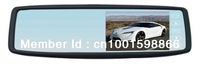 4.3inch rearview mirror monitor with dual video inputs clip on original mirror