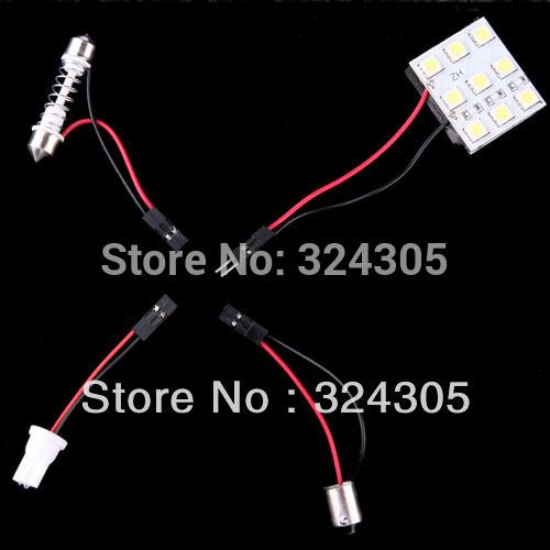 Источник света для авто 9 SMD 5050 T10 BA9S Adapter12V источник света для авто 10pcs lot g4 9 smd 5050 12v