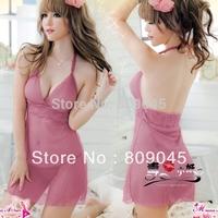 3ps (Lace Dress+2G-string)hot!Sexy babydoll Lingerie/imitate/Sleepwear/Underwear /Uniform /Kimono Costume set  women604-28