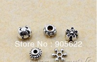 DIY  classic beads ,tibetan silver.200pcs /LOT (with 5 shape equal quantity),Free shipping .