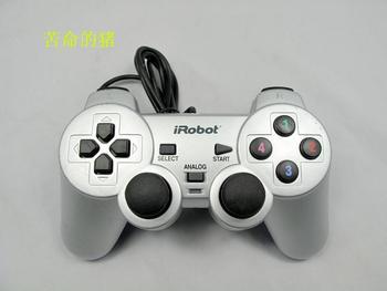 Irobot usb vibration joystick double motor vibration computer wired handle