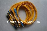 Fiber Optical Patch Cord FC/SC/ST/UPC to SC/FC/LC/UPC Simplex,3Meter, SM,PVC Cable 5pcs