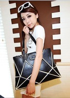 new 2013 Free shipping Hot-selling patchwork 2013 new fashion  leather bags  personality patchwork shoulder bag female bags