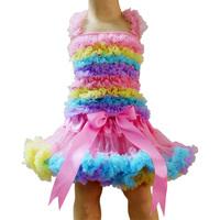 free shipping new style,Pettiskirts tutu Set(TOP+skirt),Girls PettiSkirt+Tops