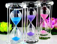 2012 new arrive crystal  sandglass 15 minutes hourglass,sandy clock with K9 for Christmas gift
