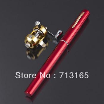 free shipping!hotsale 91cm red pen fishiing rod fishing pole and scroll set