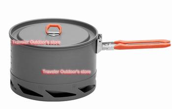 2012 New Arrive Heat Exchanger Camping Pot Outdoor Cookware Cooking Pot 1.5L FMC-K2