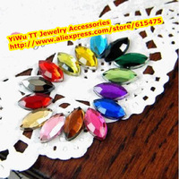 5*10mm 510pcs/pack,17colors Acrylic Horse Eye Rhinestones,Superior Taiwan Acrylic Flat Back Rhinestones