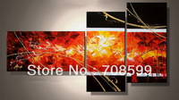 Free Shipping Home decoration  warm color abstract High Quality  Guaranteed 100% Handpainted  Oil Painting on Canvas wall art
