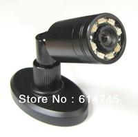 mini ir camera with 360deg turning stand(90deg view angle,8 ir lights/5m,self-motion,940nm invisible ir light)  Free Shipping