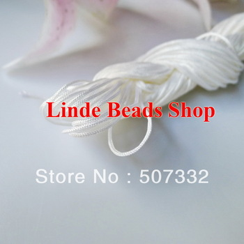 free shipping 1mm thread cord shamballa rope white Waxed Bead Cord fit shamballa bracelet&necklace string 240meter