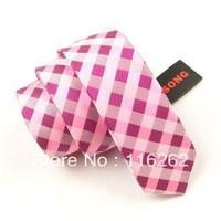 Fashion han2 ban3 tie 5 cm lattice leisure narrow tie two color choose