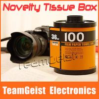 2014 Novelty FILM Paper Tissue Tissue Napkin Towel Box Cover Holder Tissue Case For Car Home USE office