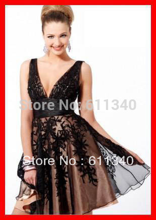 2013 Hot sale Short bridal gown Cocktail party Prom formal Bridesmaid wedding everning dress Custom size A-428(China (Mainland))