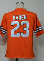 #23 Joe Haden Men's Game Alternate Orange Football Jersey