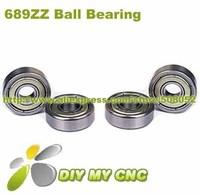 Free Shipping for Deep groove ball bearing 689ZZ 9x17x5 Shielded Miniature Ball Bearings 9mm*17mm*5mm