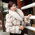 Sagolike wardrobe autumn 2012 large fur collar women's short design fox fur coat sh04