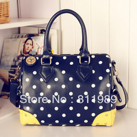 Free shipping dot bag for women  vintage color block one shoulder cross-body mmobile women's handbag women's fashiong bag