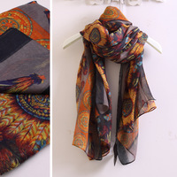 W042 scarf excellent mossimo dutti classical feather silk scarf cape
