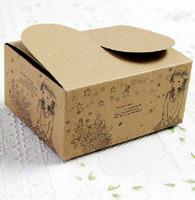 Free shipping wholesale 100pcs/lot  Kraft Paper 10.5*8.5*5cm Cookie/Cake/ Egg Tart Food Packaging Box