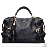 2013 Hot sale high quality freeshipping Fashion vintage Women's snake serpentine skin  handbag bags Promotion!