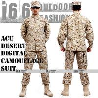 ACU Desert Digital Camouflage suit sets BDU Military Combat Uniform CS Training Uniform Garment sets Shirt + Pants(AU-12013)