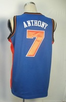 #7 Carmelo Anthony Men's Authentic Road Blue Basketball Jersey