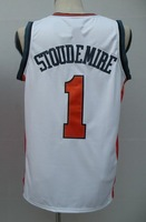 #1 Amar'e Stoudemire Men's Authentic Home White Basketball Jersey