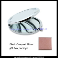 DIY Silver Round Blank Compact Mirror Double Side 58mm Plain Pocket Mirrors with Matching Gift Box