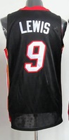 #9 Rashard Lewis Men's Authentic Road Black Basketball Jersey