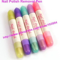 Free Shipping 5PCS Nail Art Polish Removal Pen/ Nail polish corrector pen +3pcs Replacement Tips/ Nail Art Correct Mistake Pen