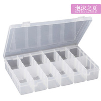 MEDICAL Large transparent plastic storage jewelry box kit pill box