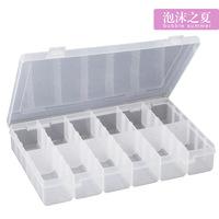 MEDICAL Large transparent plastic storage jewelry box kit pill box