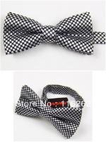Fashionable man tie black bottom gray dot dot dress tie