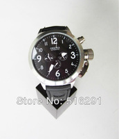 Free Ship, New 2014 luxury 52MM  Russian Style   6 hands Multifunction Men's Automatic Watch,black Dial Lock Chain Crown,